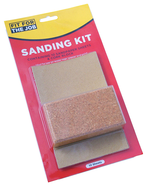 fit for the job 10 piece set sanding kit