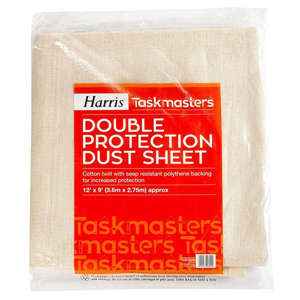 harris 12×9 double protection dust sheet