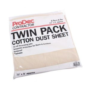 prodec twin pack dust sheet